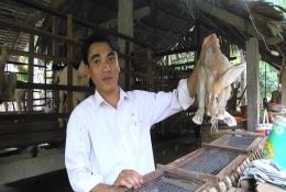 Anh Bùi Văn Hiền mở rộng mô hình với việc nuôi thêm thỏ